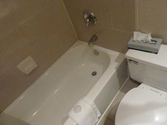 Skyline Hotel & Waterpark: Toilet and shower