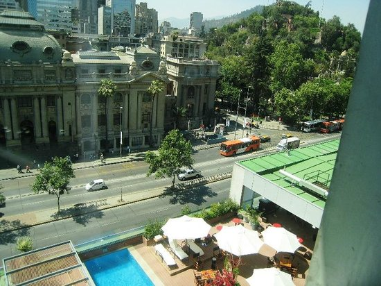 Mercure Santiago Centro: View from my hotel room (includes hotel pool)