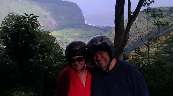 Ride the Rim: happy honeymooners atv-ing!