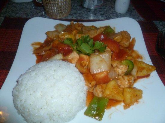 Indigo Restaurant : Sweet and sour chicken