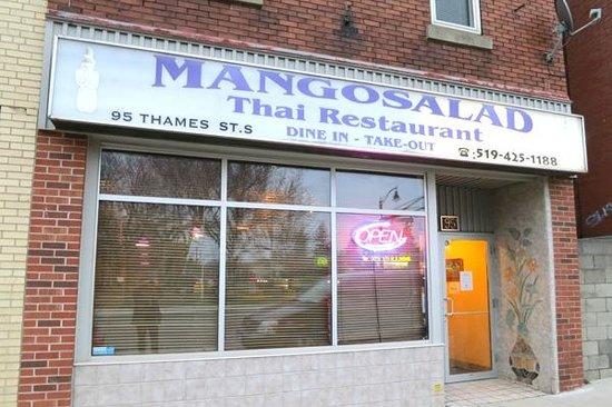 Mango Salad: Mango Salad Front of Building