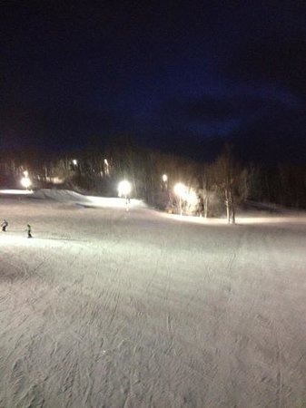 Treetops Resort: the yard and bottom of stubby and tournament hill