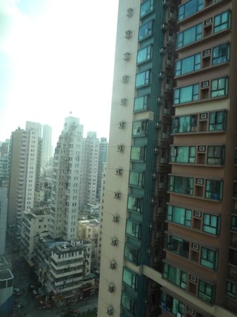 M1 Hotel: We stayed at the 20th storey. It is amazing how HK can build such long and slender buildings
