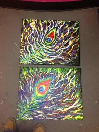 Uptown Art : Mother and daughter painting:) end result