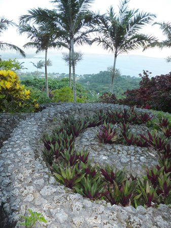 The Summit Gardens Vanuatu: Spiral garden on the Terrace Garden