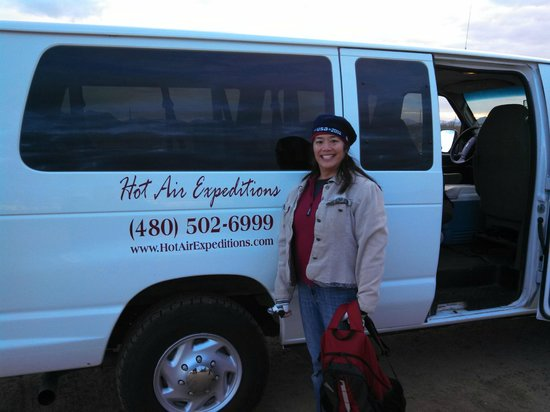 Hot Air Expeditions: shuttled from the Deer Valley Airport to the take off site, about 15 mins north