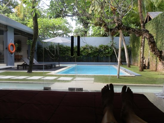 Kembali Villas: From our bedroom to the pool
