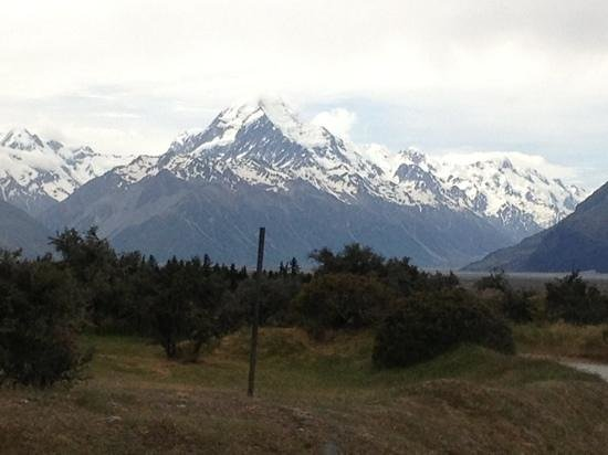 Mount Cook Glentanner Park Centre: view from camp.