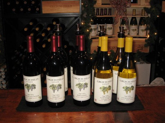 Grgich Hills Estate: A few of the superb wines to taste!
