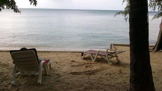 เดอะ ลิปะ เลิฟลี่ รีสอร์ท: The beach outside my bedroom door.