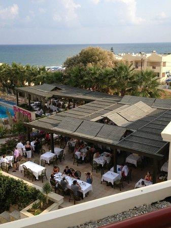 Rethymno Palace: Vue sur le restaurant
