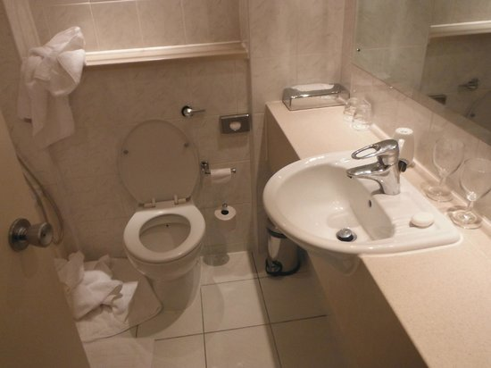 Crowne Plaza Chester: Compact bathroom