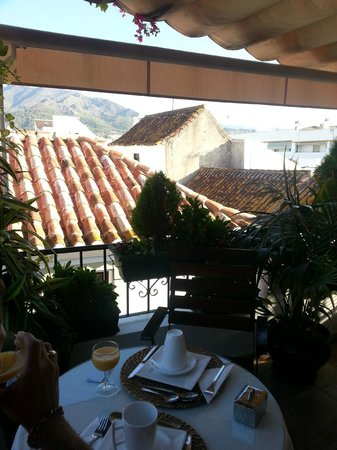 La Villa Marbella - Charming Hotel: View at Breakfast