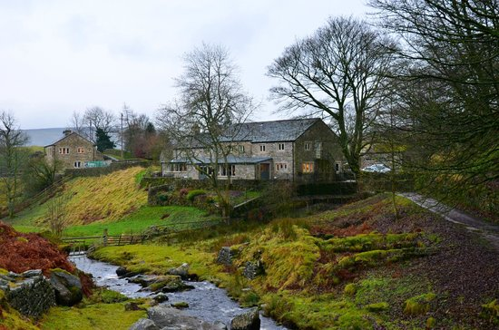Jerry and Bens Cottages: View from upstream of Hebden Beck