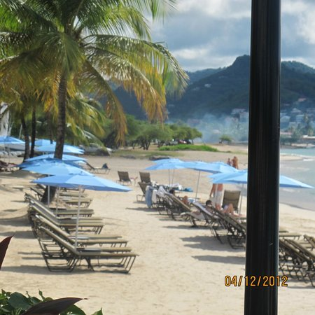 The Landings St. Lucia: view of the beach