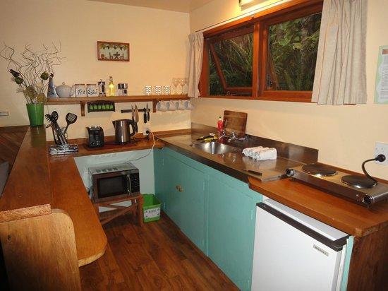 Te Nikau Retreat: Tui kitchen