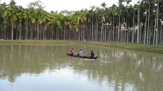 Boating in the pond