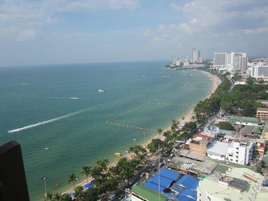 Hilton Pattaya: Blick vom Zimmer auf Ebene 26