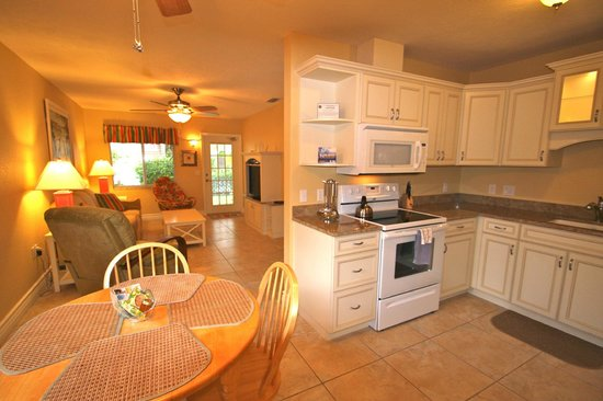 An Island Getaway at Palm Tree Villas: Kitchen view in 1 bedroom suite