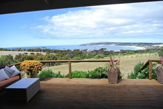 Seascape Lodge on Emu Bay: view from the main dining room