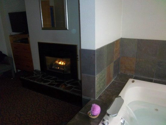Nordic Oceanfront Inn: the fireplace had a time for 30mins and it was very loud durning use