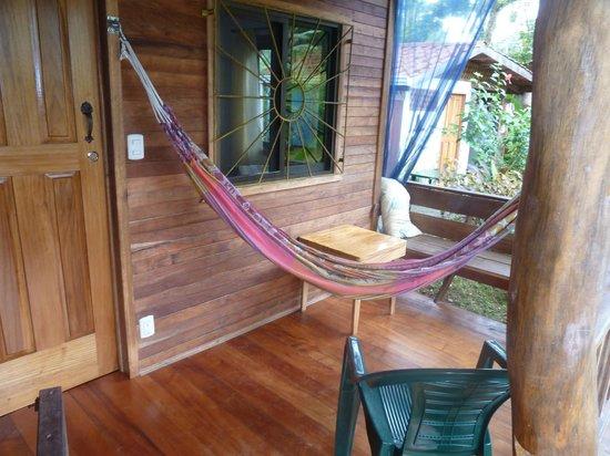 Cabinas Yamann: Terrasse