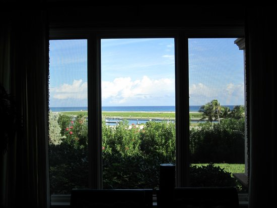 Grand Isle Resort & Spa: View from ground floor, bay view, one bedroom corner suite