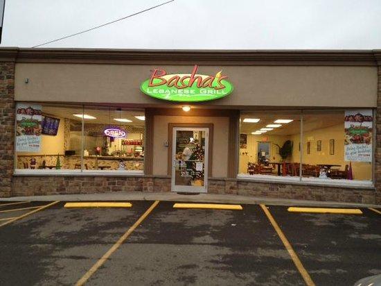 Basha's Grill entrance.