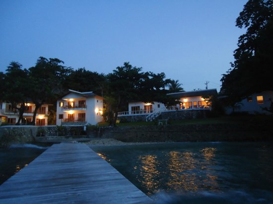 The Resort at Wilks Bay: Property from jetty at sunset