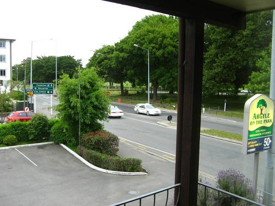 Argyle on the Park: View from hotel balcony of Hagley Park