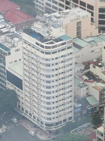 Palace Hotel Saigon : View of the hotel from the 49th floor of the Skydeck