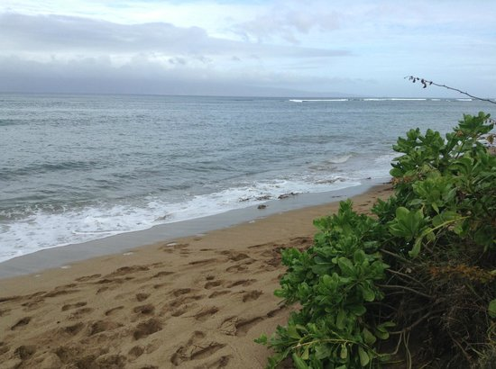 Royal Kahana: What the beach looks like when Tide is in