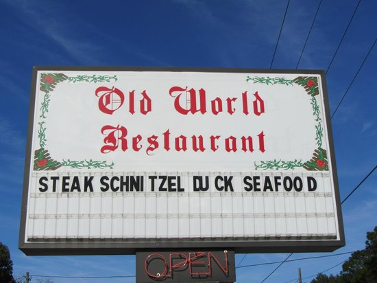 Old World Restaurant: Sign