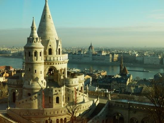 Hilton Budapest: View from the hotel bedroom