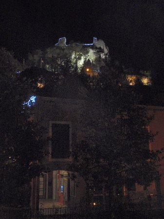 Hotel Arc en Ciel: from the bathroom window...