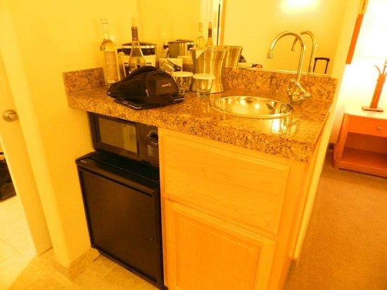 Hilton Santa Cruz / Scotts Valley: Standard King -- Min-bar with microwave & sink