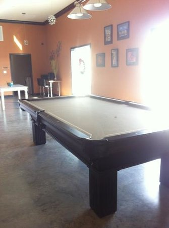 The Hotel SYNC: Pool table in lobby.
