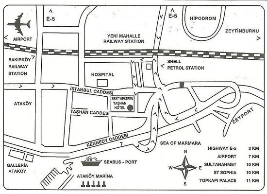BEST WESTERN Tashan Business & Airport Hotel: Location Map IMPORTANT hard to find Hotel