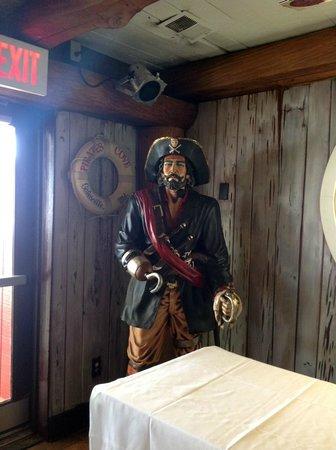Pirates Cove Restaurant: Pirate's Cove Mascot