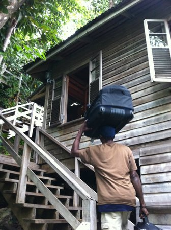 Jungle Bay, Dominica: now THAT is a valet