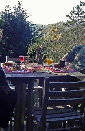 Aska Mountain Mill Bed & Breakfast: breakfast on the deck
