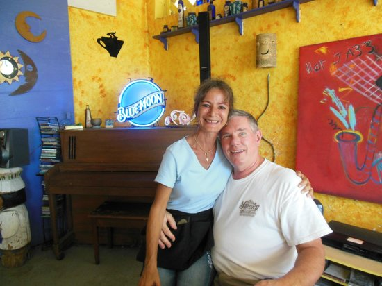 Blue Moon : With waitress at the table
