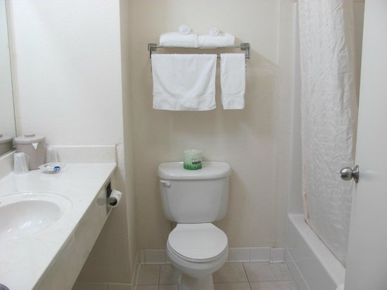 Red Roof Inn Ocala: Spacious and clean bathroom, plenty hot water