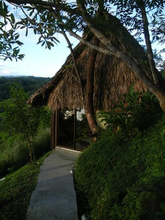 Anamaya Resort & Retreat Center: Gaia house (thatched roof is functional not decoration)
