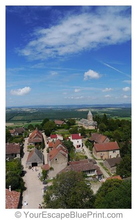 Château de Brancion : view from the tower