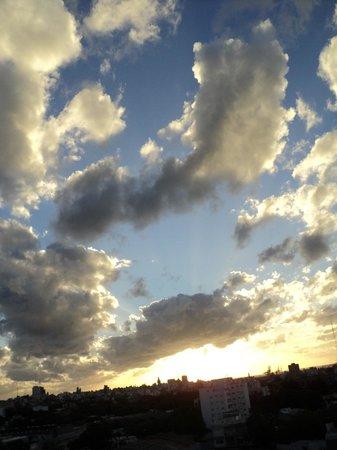 Hotel Tres Cruces: O céu às 21 horas.