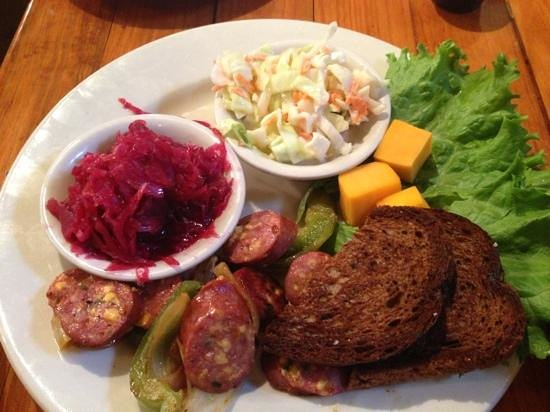 Rathskeller Restaurant: German sausage appetizer w/red cabbage