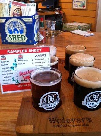 Fire & Ice: Beer sampler