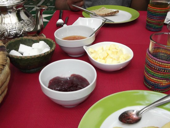 Riad Vert Marrakech: breakfast spread