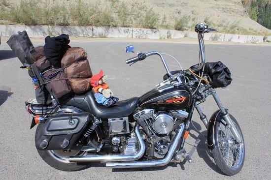 Collegiate Peaks Scenic Overlook : Chipo and his Harley